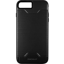 Macally Dual Layer Protective Case with Kickstand for iPhone 7 (Black