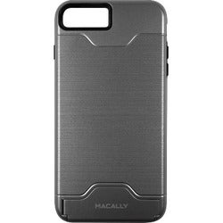 Macally Dual Layer Protective Case with Kickstand for iPhone 7 (Gray)