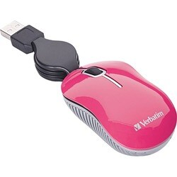 Verbatim Mini Travel Optical Mouse, Commuter Series - Pink