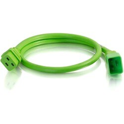 C2G 6ft 12AWG Power Cord (IEC320C20 to IEC320C19) - Green