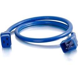 C2G 8ft 12AWG Power Cord (IEC320C20 to IEC320C19) - Blue