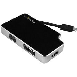 StarTech.com Travel A/V Adapter: 3-in-1 USB-C to VGA DVI or HDMI - US