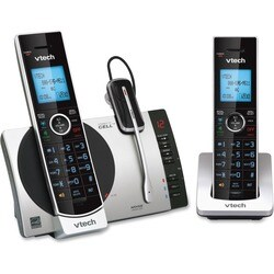 VTech Connect to Cell DS6771-3 DECT 6.0 Cordless Phone - Black, Silve