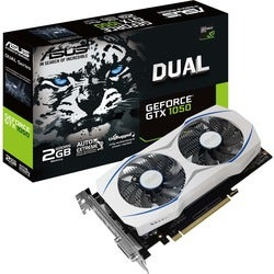 Asus DUAL-GTX1050-2G GeForce GTX 1050 Graphic Card - 1.46 GHz Boost C