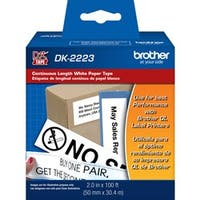 Brother DK2223 - White Continuous Length Paper Tape