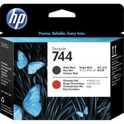 HP 744 Original Printhead - Matte Black, Chromatic Red