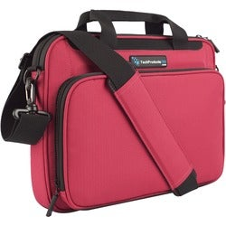 """TechProducts360 Vault Carrying Case for 12"""" Notebook - Red"""