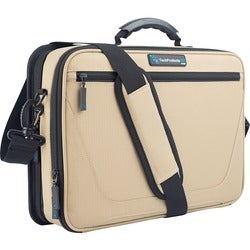 """TechProducts360 Work-In Vault Carrying Case for 11"""" Netbook - Khaki"""