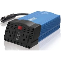 Tripp Lite 375W Car Power Inverter 2 Outlets 2-Port USB Charging AC t (As Is Item)
