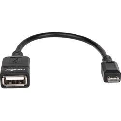 Rocstor Premier Micro USB to USB OTG Host Adapter M/F - 6in - USB Ada