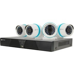 EZVIZ Smart Home 1080p Security Camera System, 4 Weatherproof 1080p I
