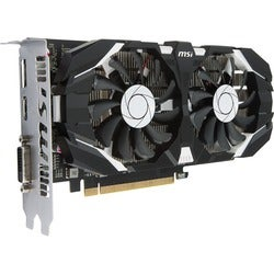 MSI GTX 1050 TI 4GT OC GeForce GTX 1050 Ti Graphic Card - 1.34 GHz Co