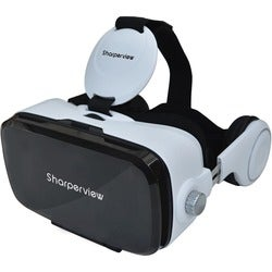 Sharperview Virtual Reality Headset with Built-in Stereo Headphones