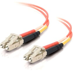 C2G 5m LC-LC 50/125 OM2 Duplex Multimode PVC Fiber Optic Cable - Oran