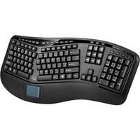 Adesso Tru-Form 4500 - 2.4GHz Wireless Ergonomic Touchpad Keyboard