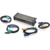 IOGEAR MiniView GCS1742 2-Port Dual View KVM Switch