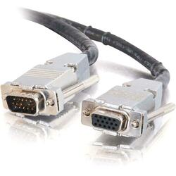 C2G 50ft Plenum-Rated HD15 UXGA M/F Monitor/Projector Extension Cable
