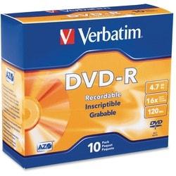 Verbatim 16x DVD-R Media