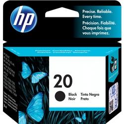 HP No. 20 Black Inkjet Print Cartridge