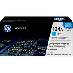 HP 124A Original Cyan Toner Cartridge, Q6001A (Single Pack)
