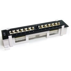 StarTech.com 12 Port 1U Rackmount Cat 6 110 Patch Panel - 45 Degree