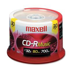 Maxell 32x CD-R For Music - 30 Spindle
