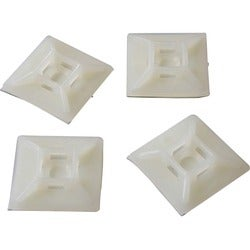 StarTech.com Self-adhesive Nylon Cable Tie Mounts - Pkg of 100