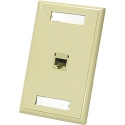 C2G 1-Port Cat5E RJ45 Configured Wall Plate - Ivory