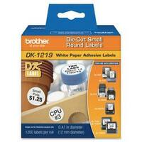 Brother DK1219 - White Small Round Paper Labels