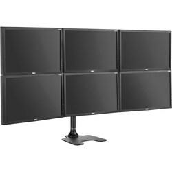 Six display LCD/LED monitor mount