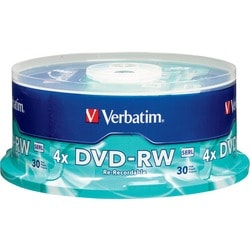 Verbatim DVD-RW 4.7GB 4X with Branded Surface - 30pk Spindle - TAA Co