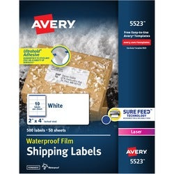 Avery Weather Proof Mailing Labels