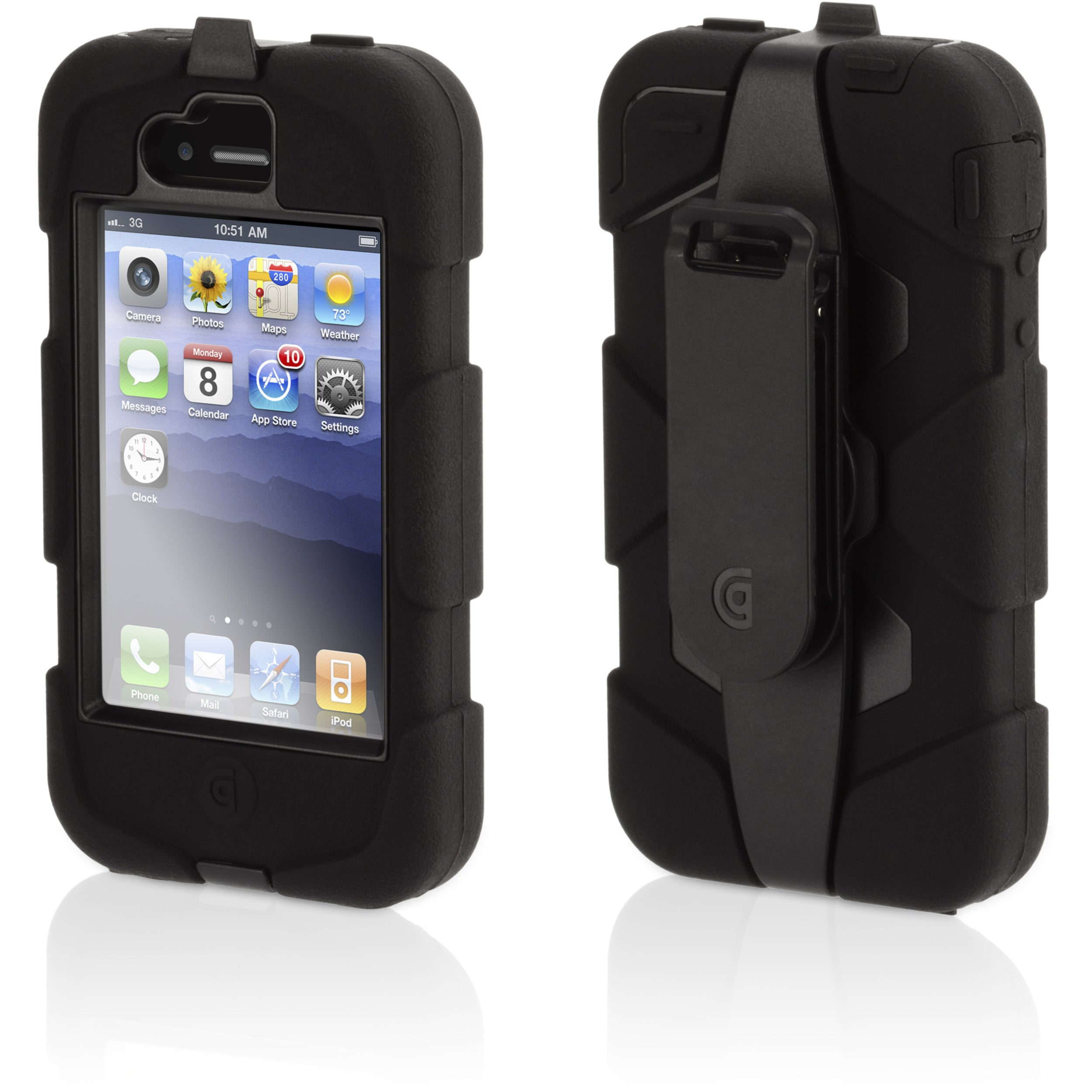 Griffin Survivor GB01902 Carrying Case for iPhone - Black - Thumbnail 0