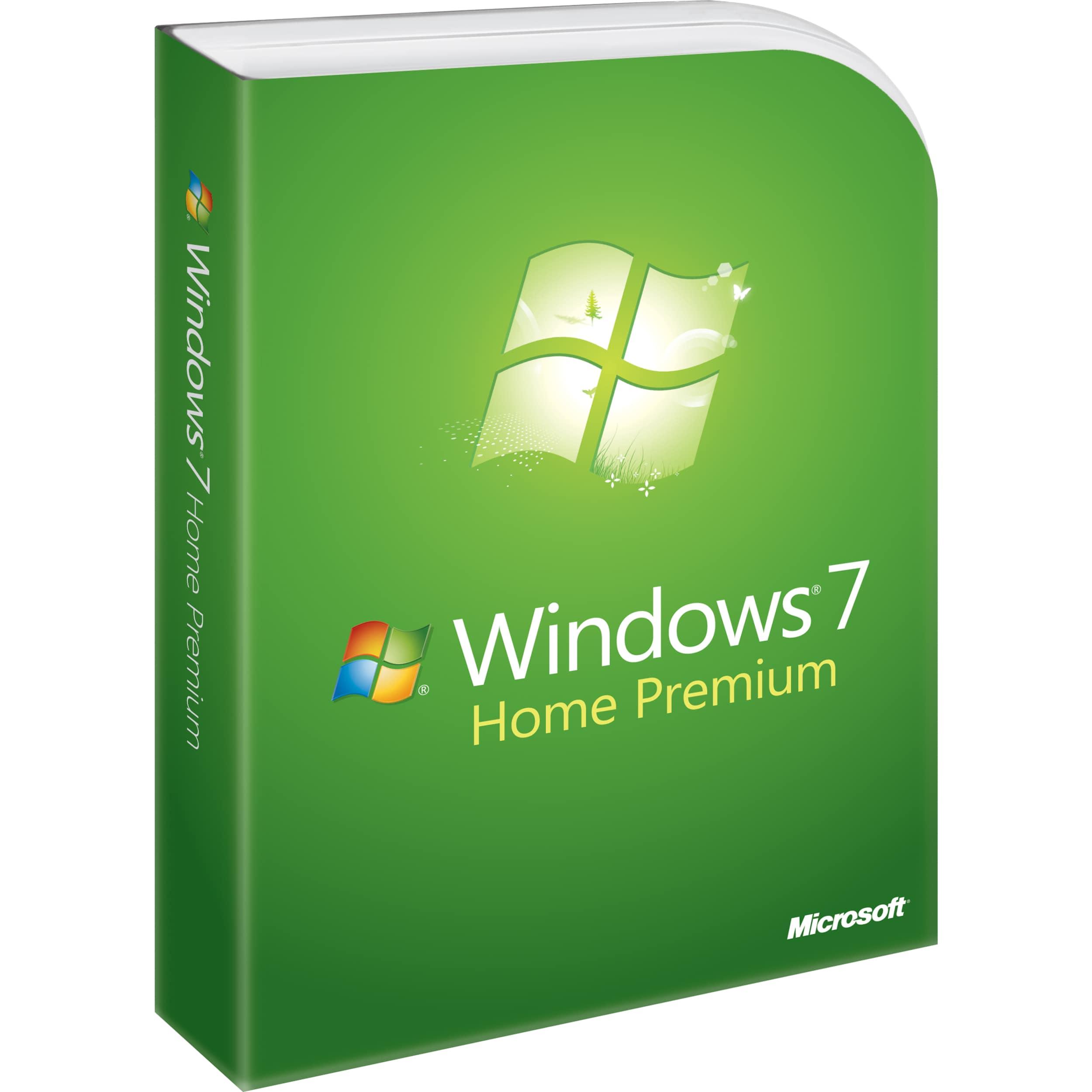 Microsoft Windows 7 Home Premium With Service Pack 1 64-bit - License