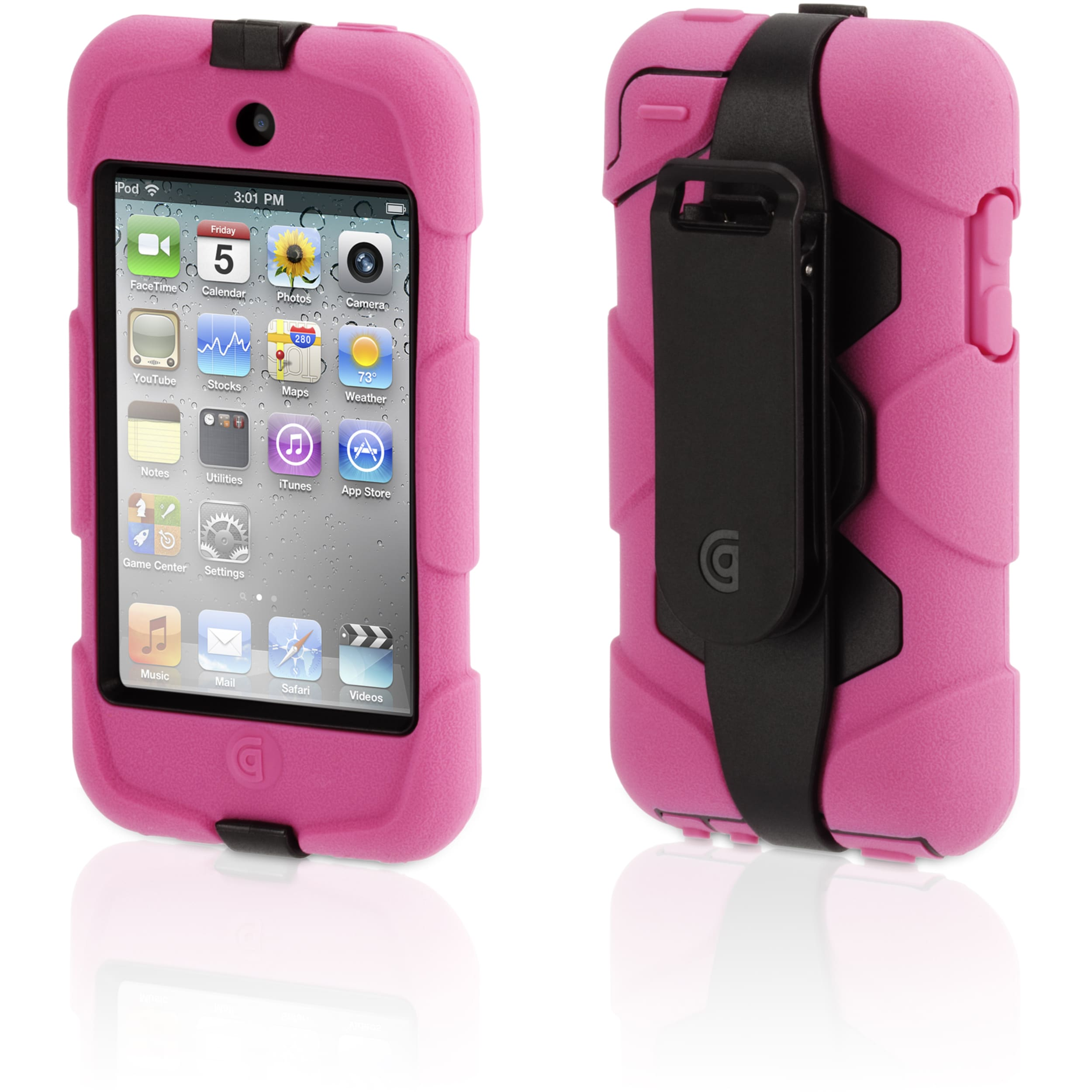 Griffin Survivor GB02478 Carrying Case for iPod - Pink, Black