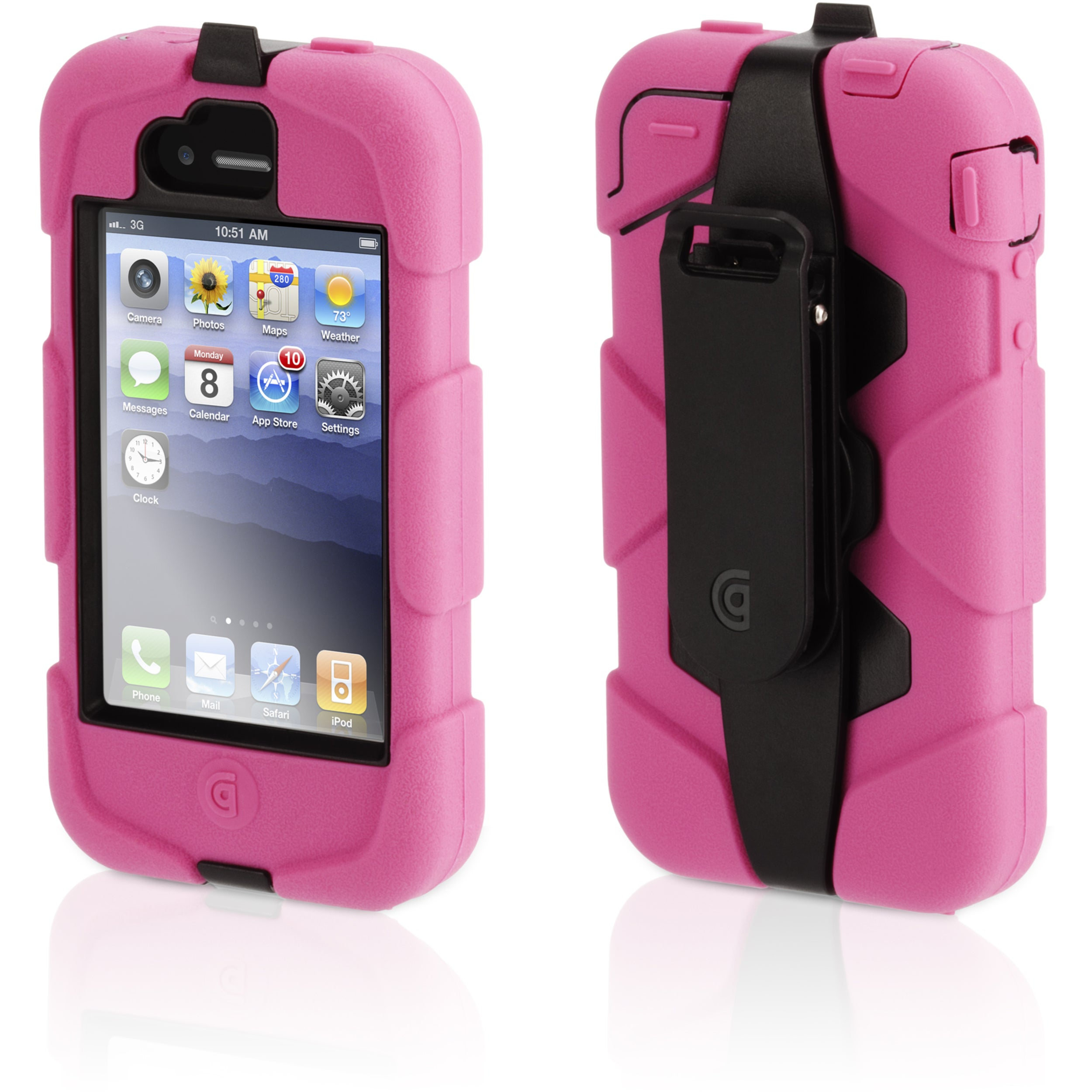 Griffin Survivor GB02476 Carrying Case for iPhone - Pink, Black