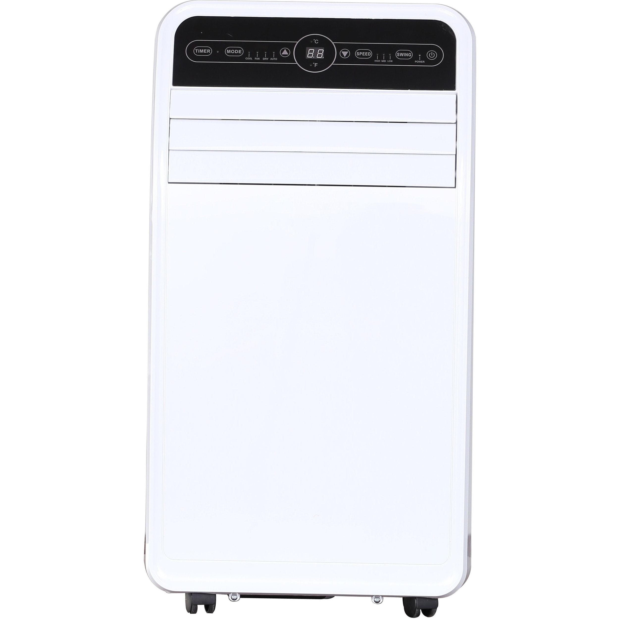 Global Air YPF1-12C 12000 BTU Portable Air Conditioner, Medium, White