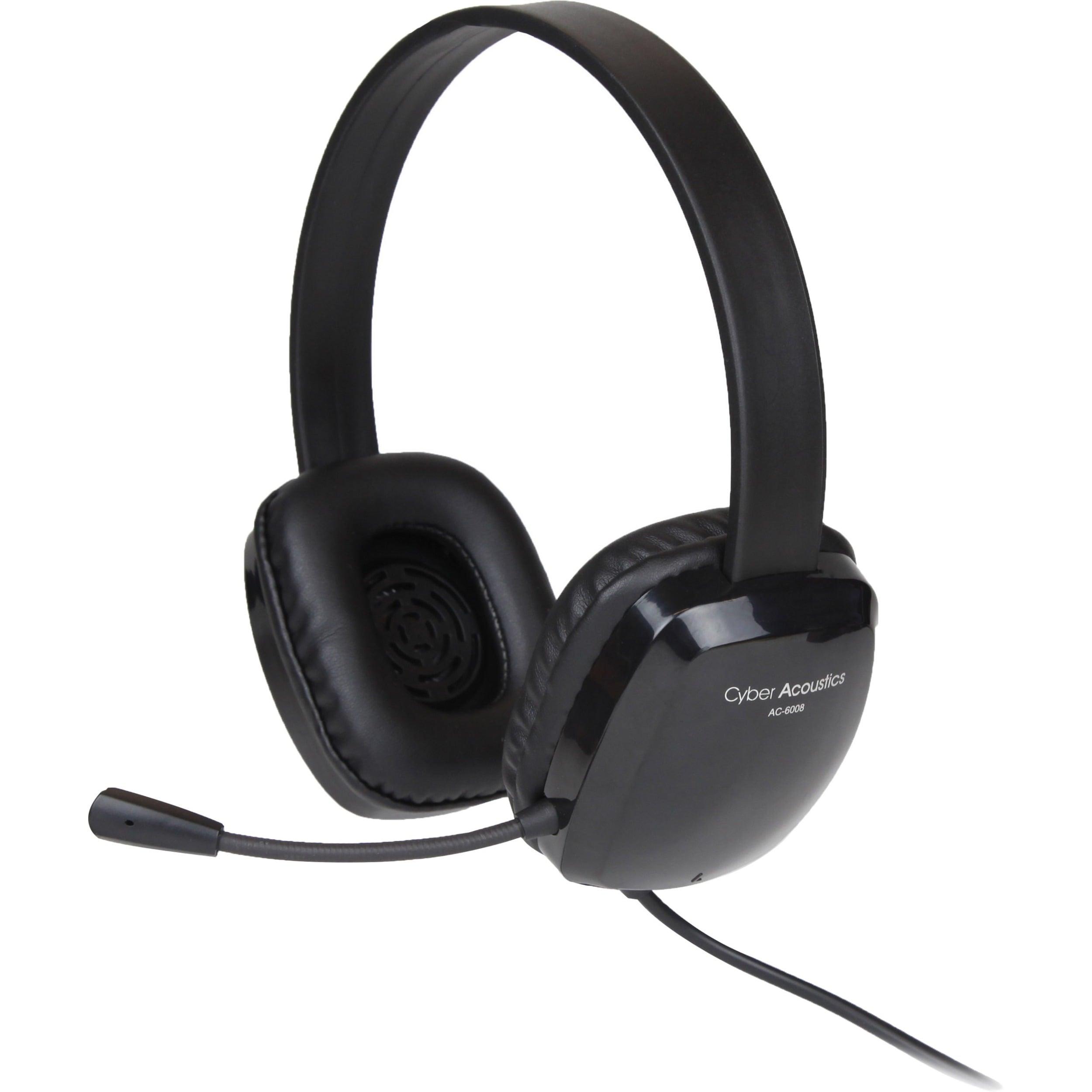 Cyber Acoustics Stereo Headset w/ Single Plug #AC-6008