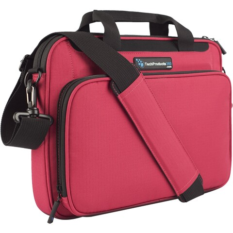 "TechProducts360 Vault Carrying Case for 12"" Notebook - Red"
