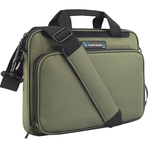 """TechProducts360 Vault Carrying Case for 12"""" Notebook - Green"""