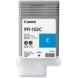 Canon Cyan Ink Tank For imagePROGRAF iPF500, iPF600, and iPF700 Printers