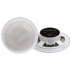 Pyramid MDC6 5.25-Inch Marine 100 Watts Dual Cone Waterproof Stereo Speakers - White
