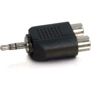 Cables To Go 3.5mm Stereo to Dual RCA Adapter