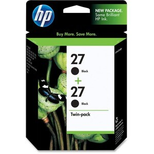 HP No. 27 Twinpack Black Ink Cartridge