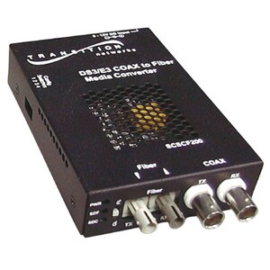 Transition Networks DS3-T3/E3 Coaxial to Fiber Media Converter