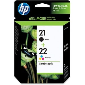 HP No. 21/22 Black and Tri-color Ink Cartridge - Thumbnail 0
