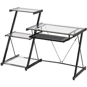 Z-Line Designs Nero Computer Desk with Bookcase