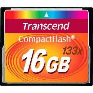 Transcend 16GB CompactFlash (CF) Card - 133x - Thumbnail 0