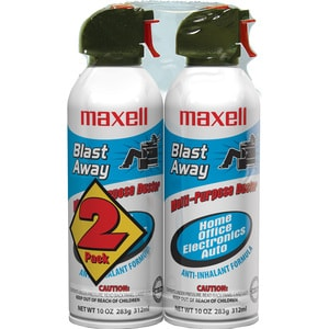 Maxell CA-4 Blast Away Canned Compressed Air Duster for Keyboards
