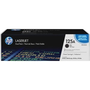 HP CB540A Dual Pack Toner Cartridge